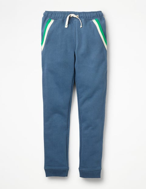 Sports Stripe Joggers - Lagoon Blue