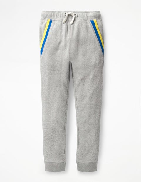 Sports Stripe Joggers - Grey Marl