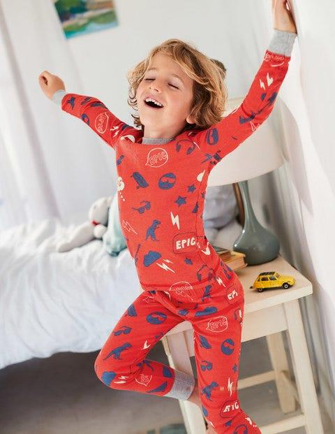 Glow-In-The-Dark Long Pajamas - Beam Red Emoji
