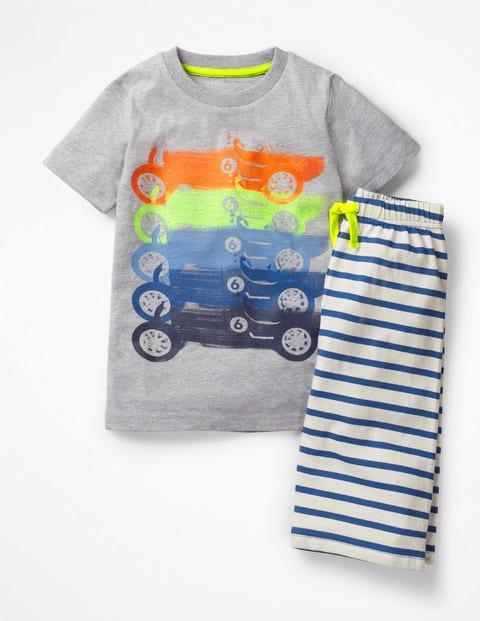 Graphic Pyjamas - Grey Marl Rainbow Cars