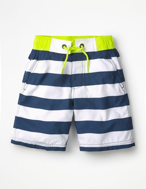 Board Shorts - Lagoon Blue/Ivory