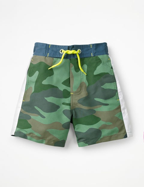 Poolside Shorts - Rosemary Green Camouflage