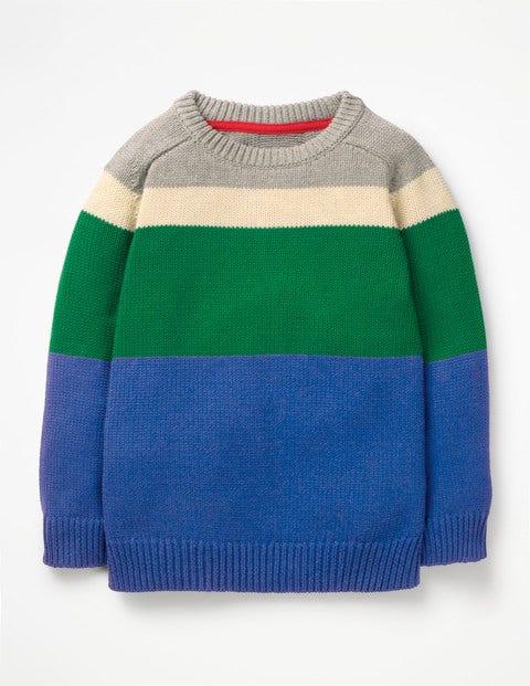 Pullover mit Rundhalsausschnitt Blue Jungen Boden, Blue blau |