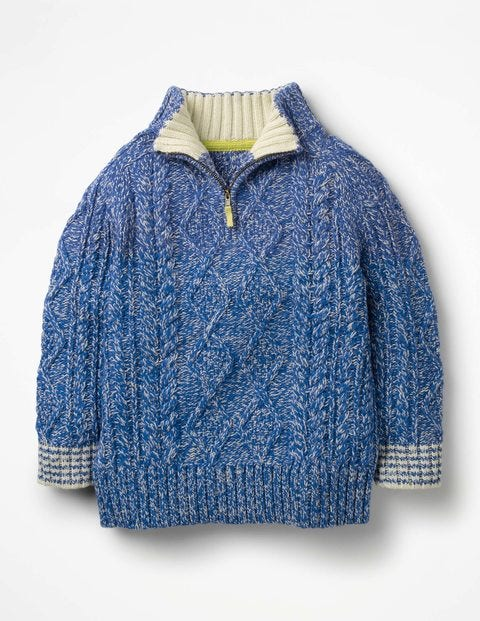 Half-Zip Sweater - Elizabethan Blue