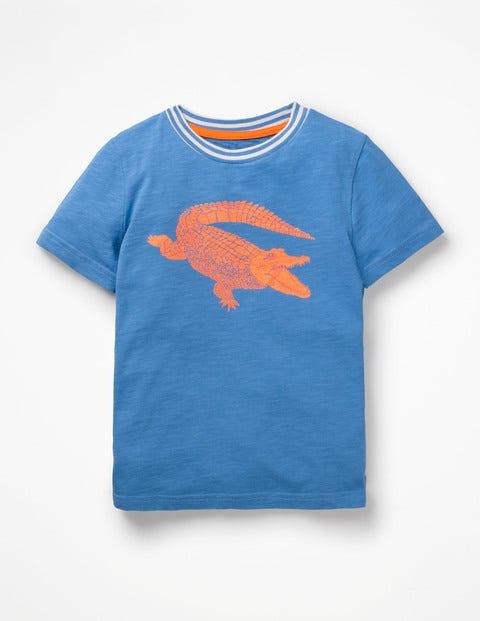 T-Shirt Pop À Motif Animal - Crocodile bleu élisabéthain