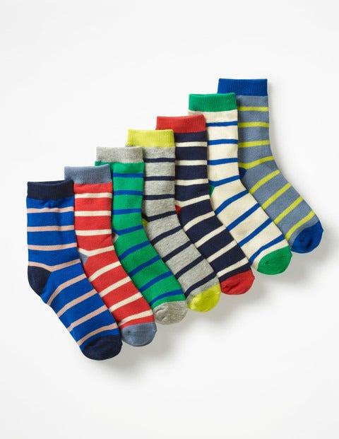 7 Pack Sock Box - Multi Stripes
