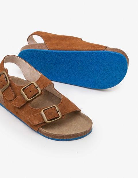 Suede Sandals - Tan