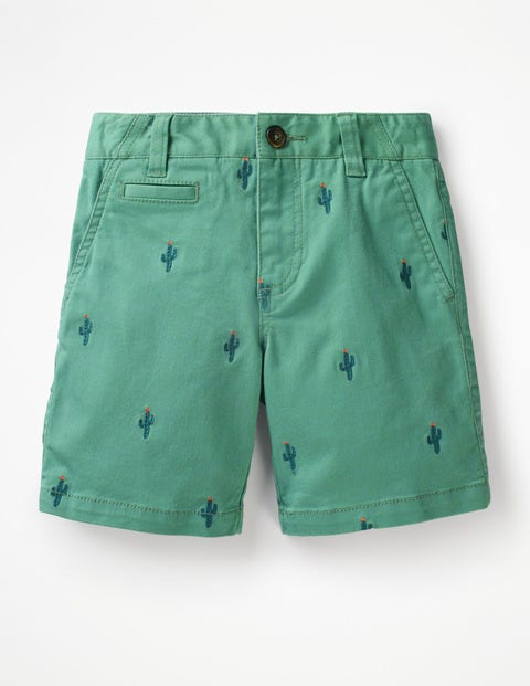 Chino Shorts - Bright Green Cactus