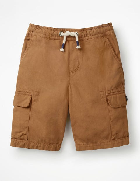 Pull-On Cargo Shorts - Butterscotch Brown