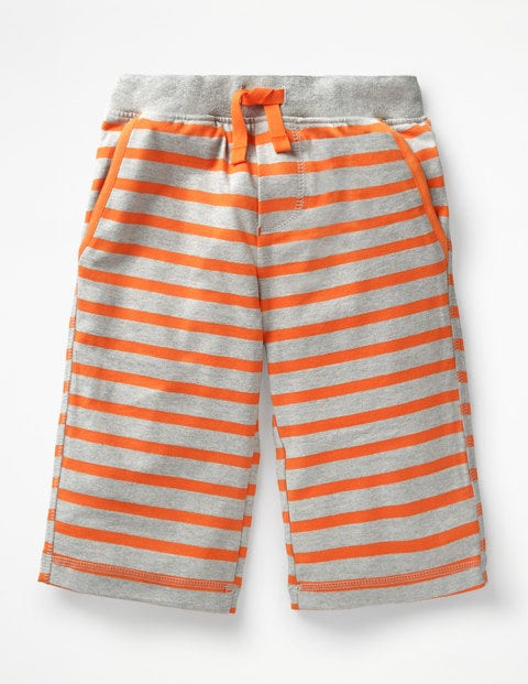 Jersey Shorts - Grey Marl/Tangerine Orange