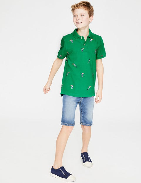 Piqué Polo Shirt - Astro Green Toucans