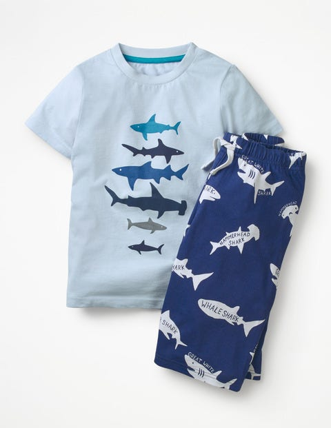 Graphic Pyjamas - Provence Blue Sharks