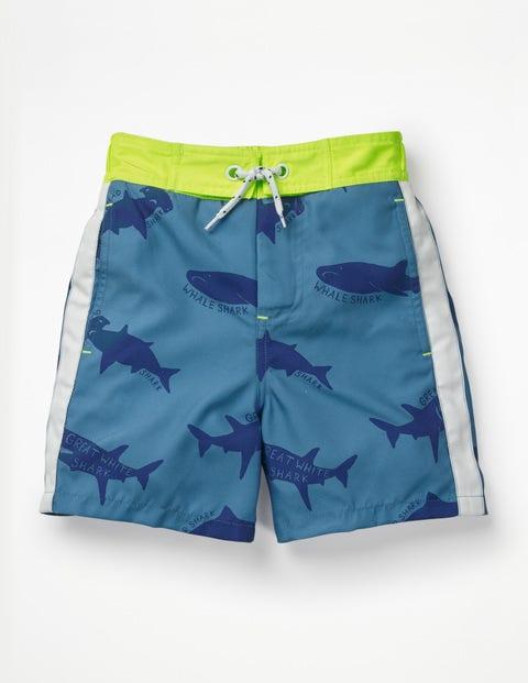 Poolside Shorts - Elizabethan Blue Sharktastic