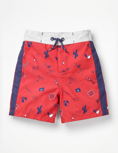 Poolside Shorts - Jam Red Good Vibes