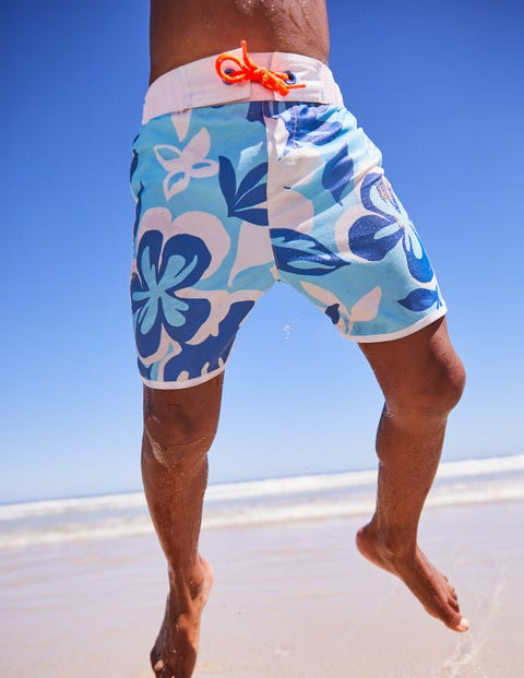Surf Shorts - Blue Painted Hawaiian