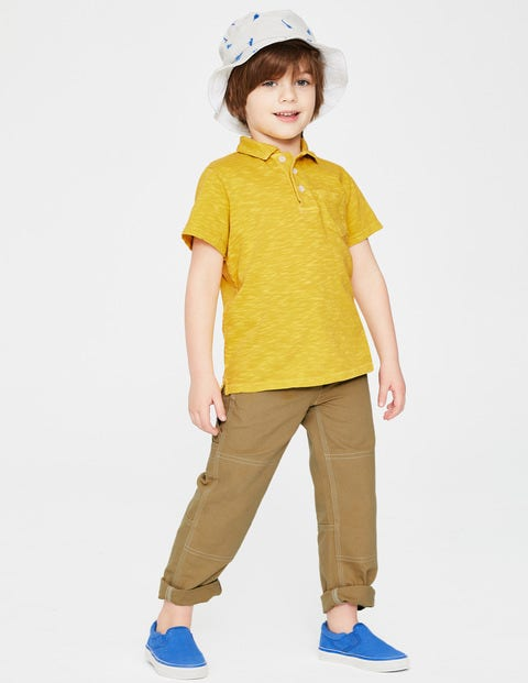 Garment-Dyed Jersey Polo - Mimosa Yellow