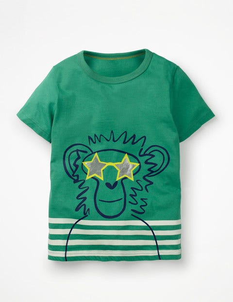 Cool Animal T-Shirt - Jungle Green Monkey