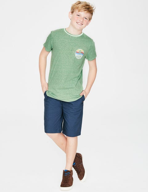 Surfer T-Shirt - Soft Green Marl