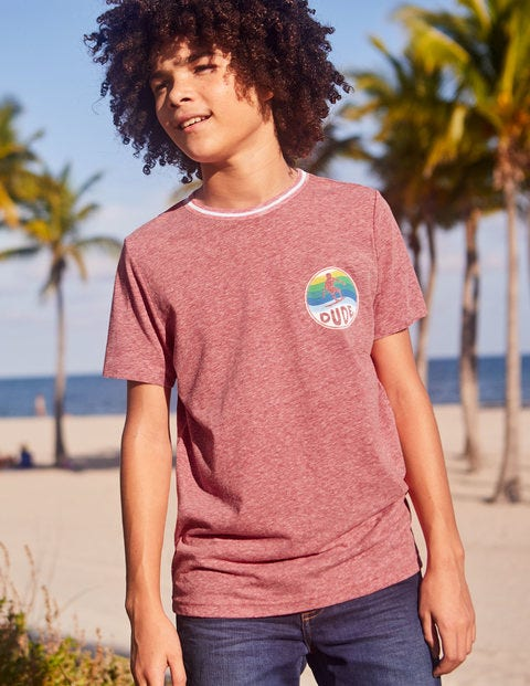 Surfer T-Shirt - Soft Red Marl