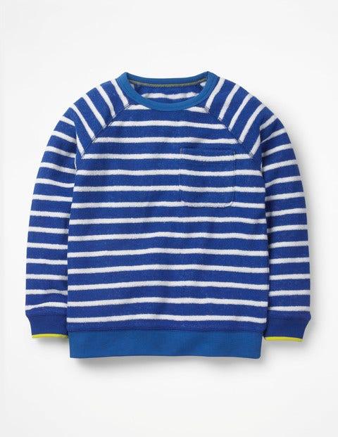 Großhandelsverkauf New York neues Frottee-Sweatshirt - Wellenblau/Weiß