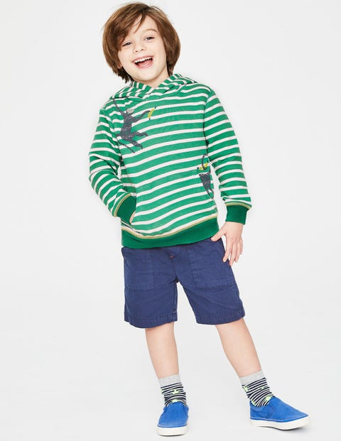 Fun Pocket Hoodie - Jungle Green/White Monkey