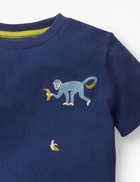 c339e75c8a336 Embroidered Creature T-Shirt - Starboard Blue Monkey | Boden AU