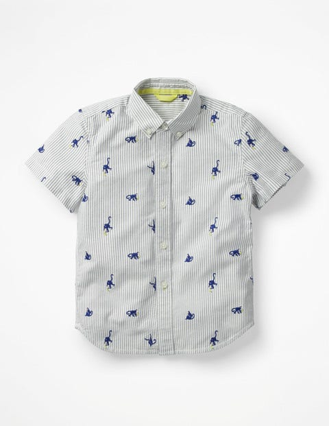 Fun Short-Sleeved Shirt - Starboard Blue Monkeys
