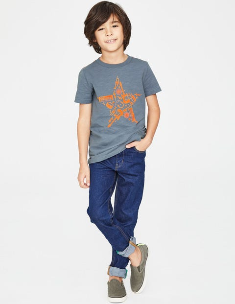 Printed Music T-Shirt - Tin Blue Star