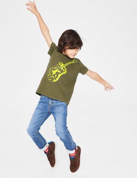 T-Shirt À Imprimé Musique - Guitare vert ghillie