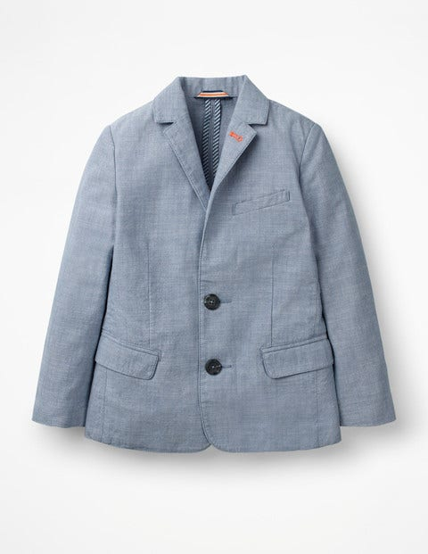 Lightweight Blazer - Light Blue Chambray