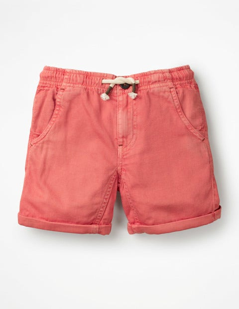 Roll-up Shorts - Baked Coral Orange