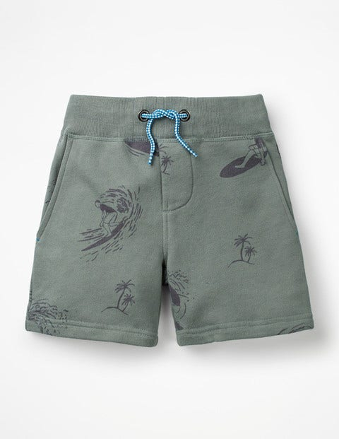 Jersey Shorts - Pottery Green Surfers