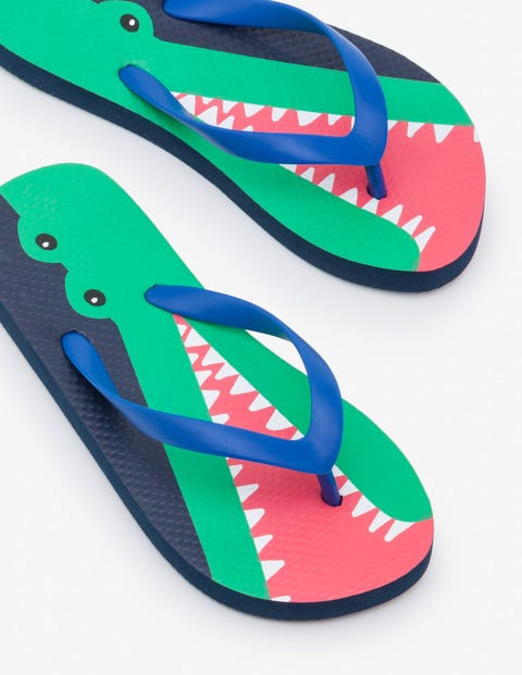 Gemusterte Flip-Flops - Lagunenblau