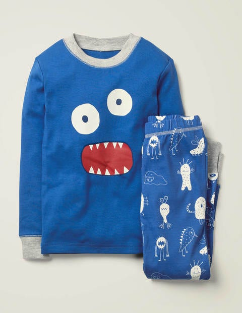Glow-In-The-Dark Pajamas - Duke Blue Monsters