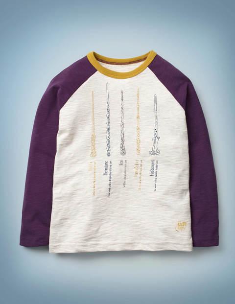 Zauberstab-T-Shirt - Hellbeige Meliert