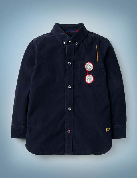 Harry Pocket Cord Shirt - Midnight Blue