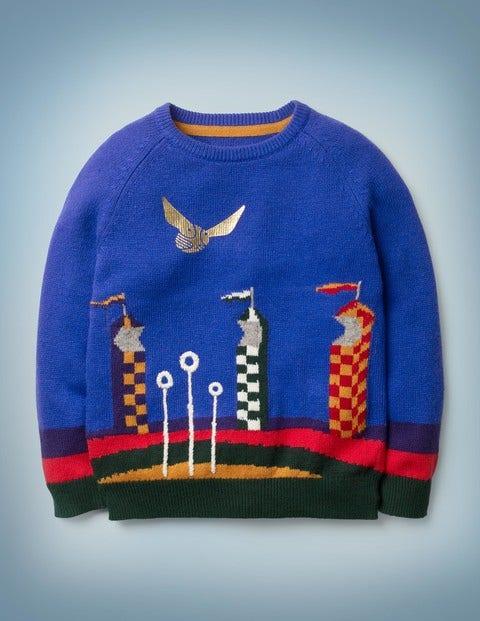 Quidditch-Pullover - Königsblau