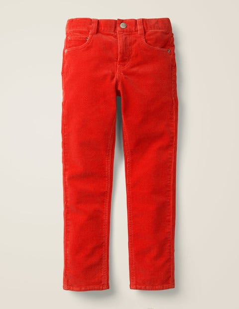 Slim Cord Jeans - Orange Red Cord