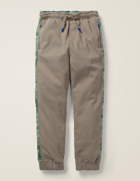 Sporty Twill Jogger - Nutty Brown