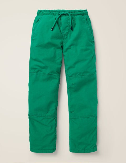 Fleece Lined Pull-On Trousers - Hike Green