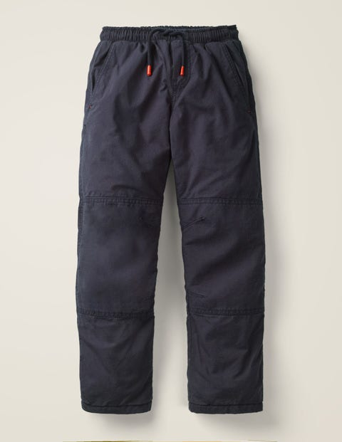 Fleece-Lined Techno Pants - Navy