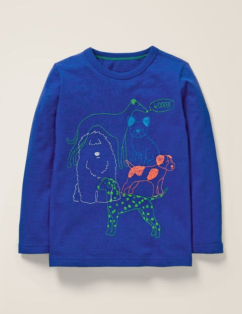 Superstitch Animal T-Shirt - Howlin Blue Dogs