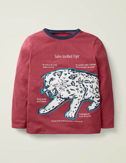 Glow-In-The-Dark Beast T-Shirt - Sail Red Saber-Tooth