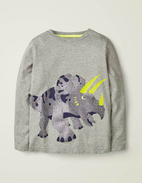 Shiny Creature T-Shirt - Grey Marl Triceratops