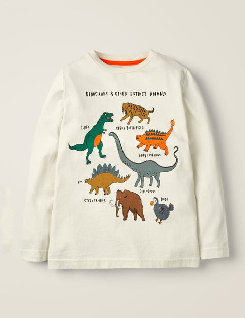 Glacial Animal T-Shirt - Ivory Extinct Animals