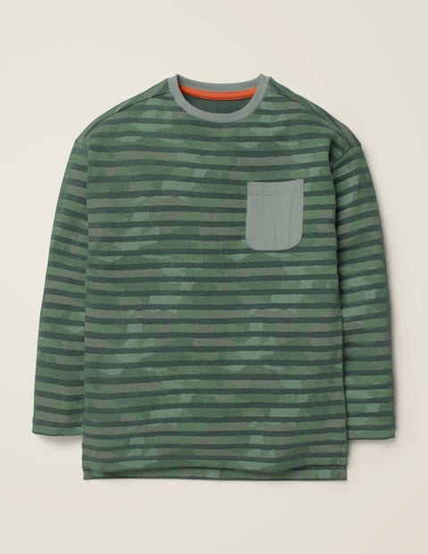 Camo Stripe T-Shirt - Green Marl Camo