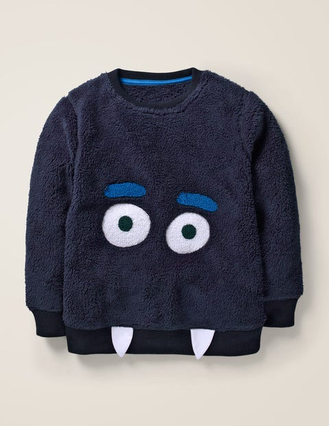 Snuggly Monster Sweatshirt - Navy Blue Monster