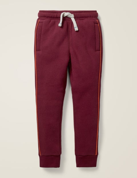 Shaggy-Lined Joggers - Baked Aubergine Purple