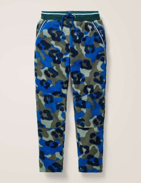 Mikrofleece-Jogginghose - Khaki, Tier-Camouflage