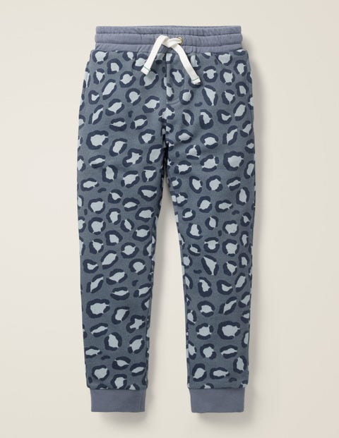 Cosy Lined Joggers - Grey Animal Spot